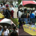 許多愛心民眾熱鬧參與運動會義賣活動
