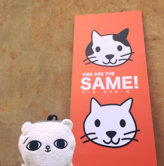 SECOND帶「爽爽貓」參與陽光臉部平權特展,並說自己很喜歡這次logo的意涵。
